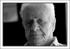 Cypriot 1 (Polis Poliviou) Tags: old portrait blackandwhite bw man male men face portraits canon hair greek nose eos photo blackwhite image head expression grandfather cyprus grandpa years granddad facial grandpapa pension polis cypriot creases eos30d poliviou polispoliviou