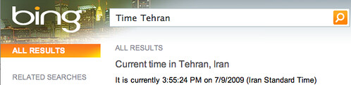 Time in Tehran Bing