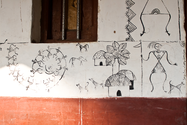 Details on a house wall - Melukote, Chitra Aiyer Photography