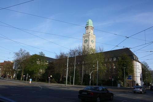 Buer Rathaus im April