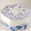 Decorative Hexagonal Origami Gift Box With Lid: # 15