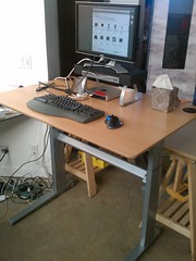 Trying out standing with geekdesk