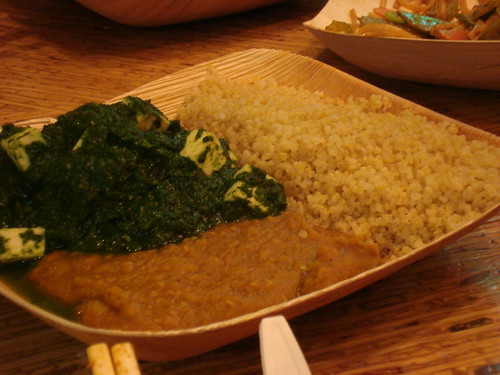Palak Paneer w Brown Rice