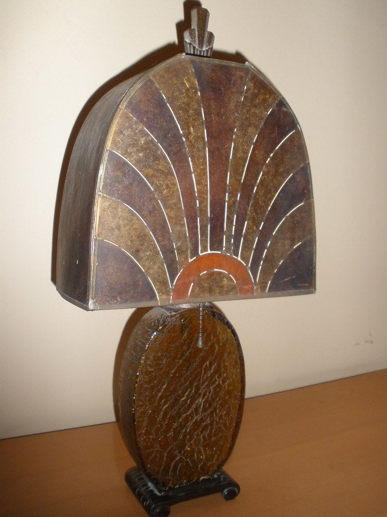 Art Deco Mica Table Lamp