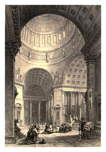 005-Interior de la iglesia de Kazan-A journey to St. Petersburg and Moscow 1836- Ritchie Leitch