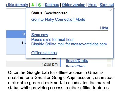 Gmail's Offline Mode Indicator