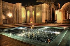 The pool (momentaryawe.com) Tags: water pool architecture night lights hotel dubai uae resort arabic emirates hdr babalshams d300