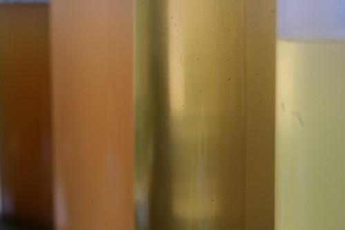 syrups close up