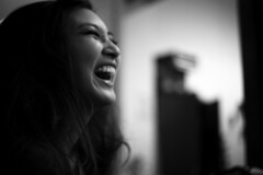 Lively (Add Wimolrungkarat) Tags: woman thailand blackwhite pretty princess supermodel actress pancake laughting lively laugher