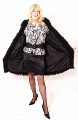 Mar309-2tn (wendy_glos) Tags: woman sexy stockings girl smile fetish fur t dress cross feminine coat femme makeup tgirl tranny transvestite heels trans satin wendy tart transgendered pantyhose crossdresser nylons tfmarch3rd09 tgirltart