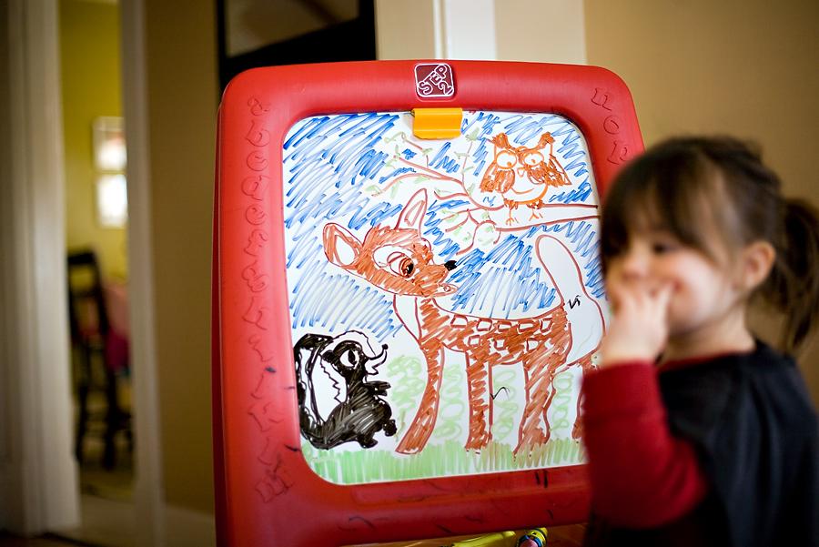 My career in case Kellan falls through.  Whiteboard Disney art...totally have Chloe fooled.