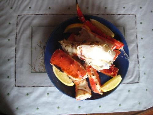 crab legs.
