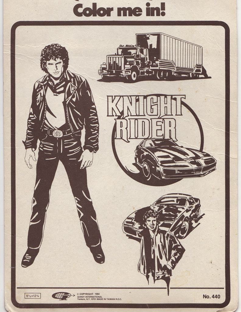 Knight rider coloring pages