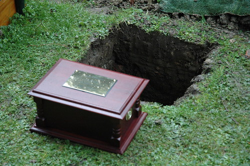 Ashes to be buried