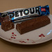 Detour Lower Sugar deluxe whey protein energy bar chocolate chip caramel flavor