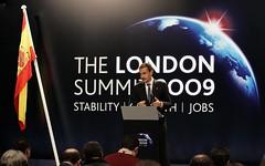 Zapatero en el G20 de Londres
