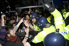 Street Riots Hit G20 Summit (si gross) Tags: street city uk london photography trapped riot police surrounded brutality bishopsgate londonstreets riotpolice climatecamp cl91 g20protests