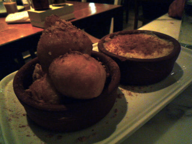 Loukoumades and risogalo