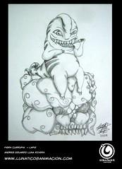 FIERA CURRUPIA (Lunatico Andres) Tags: arte lunan dibujo animacion fiera dientes ilustracin mounstro actitud tierno mondadientes lunaticosanimacion lunaticoandres lunandres andresluna andreseduardolunarivera lunaticosanimacin fieracurrupia