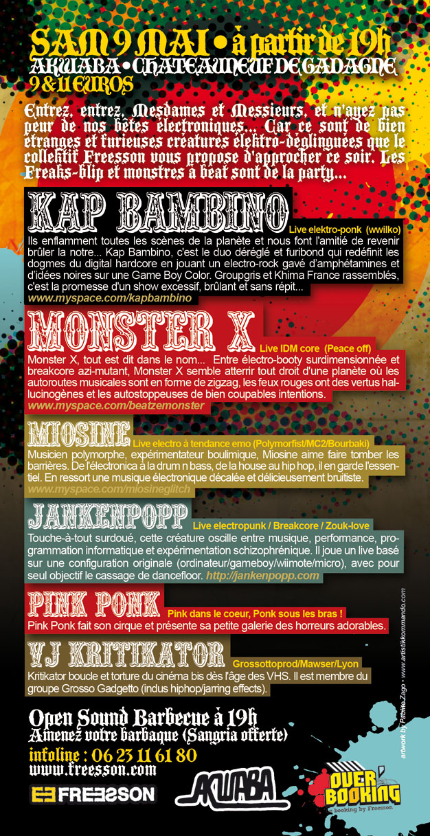09/05/09 MONSTER X + KAP BAMBINO + MIOSINE @Akwaba - AVIGNON 3427216850_167632d09b_o