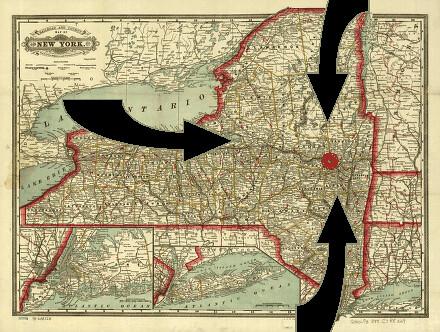 NY Three Pronged Attack 1777