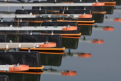 The missing boats (Hkan Dahlstrm) Tags: orange reflection sweden schweden mooring sverige bastad sude svezia bstad bastad skanelan