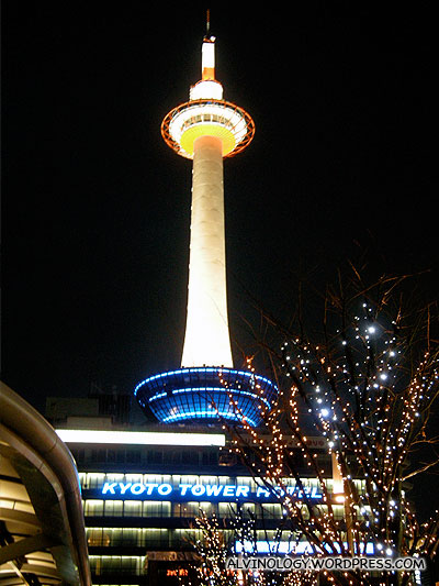 Closer look at just the Kyoto Tower