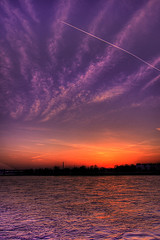 Dsseldorf Sunset [HDR] (ionut iordache) Tags: sunset sky sun beautiful plane canon
