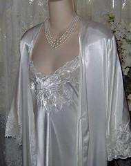 My white satin peignoir Nightgown (Ruth velasquez) Tags: white 100 satin nightgown peignoir