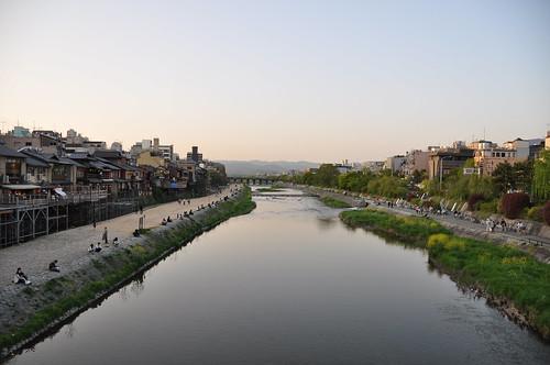 Depuis le pont de Shijo