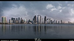 To Doha ... All my love (khalid almasoud) Tags: city skyline canon buildings eos photographer 2009 khalid doha qatar      50d  almasoud flickraward