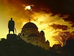 Hram Svetog Save (ceca67) Tags: light sky monument temple belgrad srbija hram karadjordje otw siluete