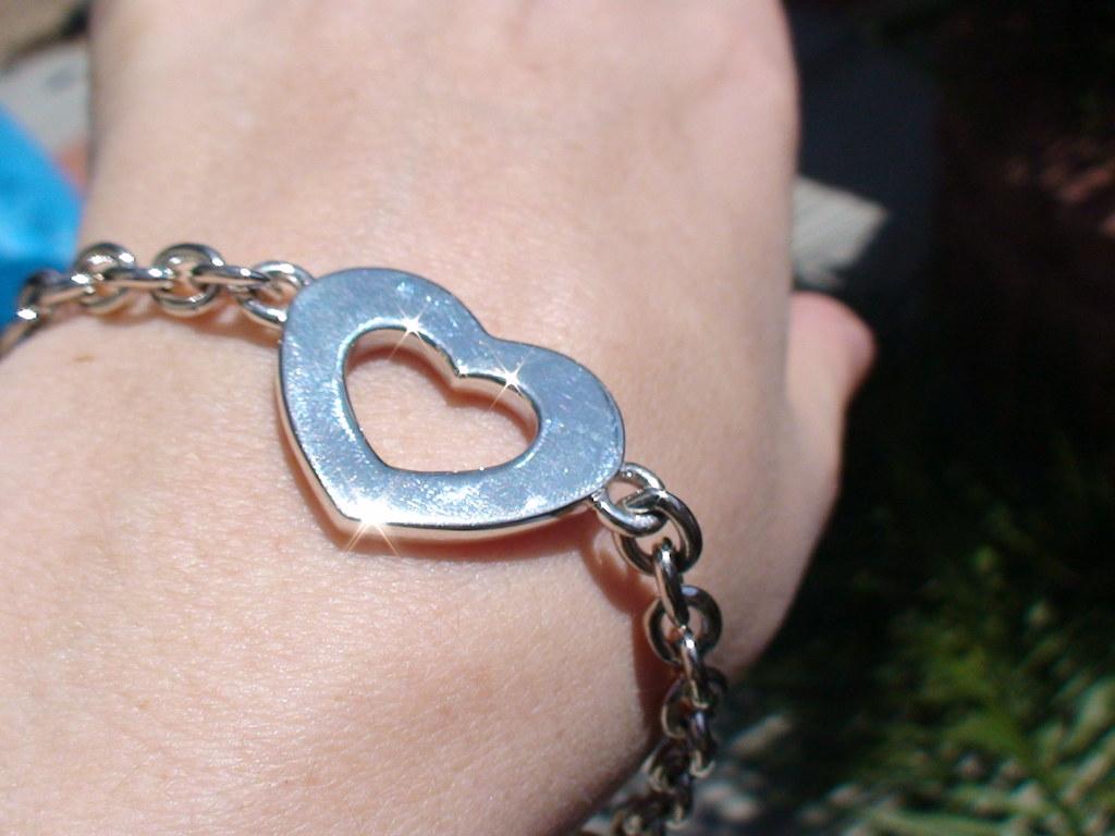 Open Heart Link Bracelet