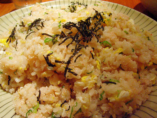 Fried rice with spicy cod roe @ Sake Bar Hagi by you.