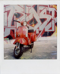 Vesp-A-Roid (epmd) Tags: polaroid sx70 vespa 79 p200e ndfilter 600film springroidweek2009
