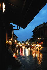 Kyoto032 (Kosei.S) Tags: street light reflection wet lamp rain japan night town kyoto gion d200 traditionally mtrtrophyshot