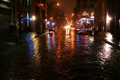 new york night rain