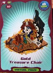 11/34 VMK Mickey Gold Treasure Chair Pin (partyhare) Tags: gold pin tradingcard disney pirate mickeymouse piratesofthecaribbean eyepatch jollyroger vmk virtualmagickingdom piratetreasure disneypin disneypintrading treasurechair disneysvirtualmagickingdom