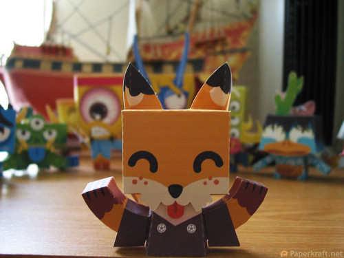 Japanese Monster Papercrafts - Kitsune
