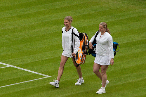 Steffi Graf and Kim Clijsters