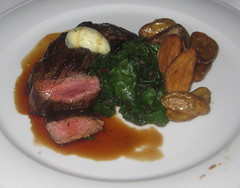 Spruce in San Francisco - Grilled Bavette steak with duck fat potatoes