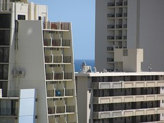 Doch, wir haben ein Zimmer mit Meerblick! (ogressie) Tags: hawaii oahu waikikibeach