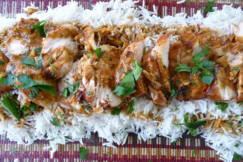 Grilled Chicken with Soy-Curry Sauce