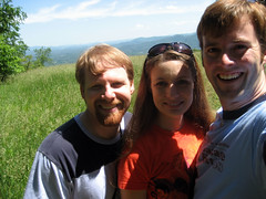 brian, tammy and ian on a hike in asheville