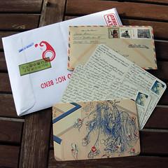 outgoing 1 May 09 (donovanbeeson) Tags: post mail letters ephemera envelope letter postal usps correspondence envelopes airmail letterwritersalliance nprpostal