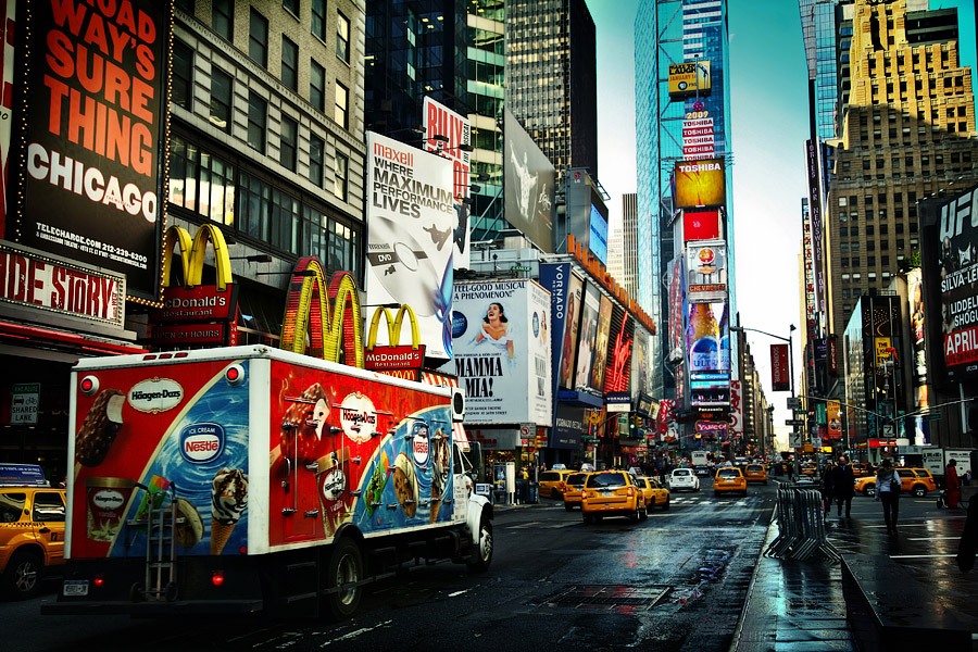 The colours of Time Square.