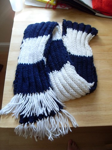 Ravenclaw scarf, 1st ever project