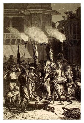 002- Encantadores de serpientes en Bombay-La India en palabras e imágenes 1880-1881- © Universitätsbibliothek Heidelberg