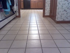floor washing break: last one  it's dry so I touched up some of the chips in the