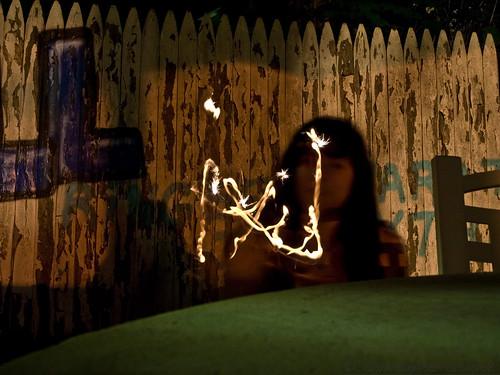 Lexie writing her name